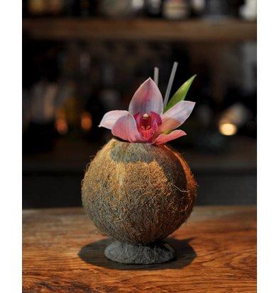 Bar Professional Kokosnussschale mit Fuß | 9x13 cm