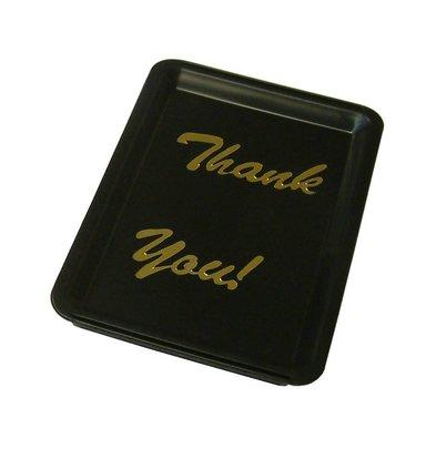"""Bar Professional Trinkgeldbehälter """"Danke""""   16x11cm   Schwarz mit goldenen Buchstaben"""