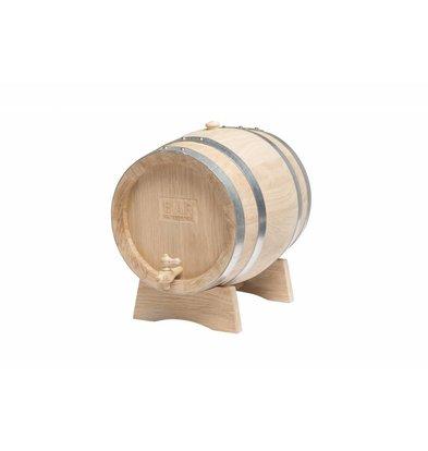 Bar Professional Holzfass mit Wasserhahn | 5 Liter