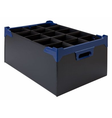 Bar Professional Box für 15 Gläser 500x345x200mm | 5 stück Schwarz