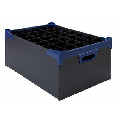 Bar Professional Box für 35 Gläser 500x345x200mm | 5 stück Schwarz