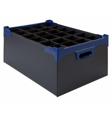 Bar Professional Box für 24 Gläser 500x345x200mm | 5 stück Schwarz