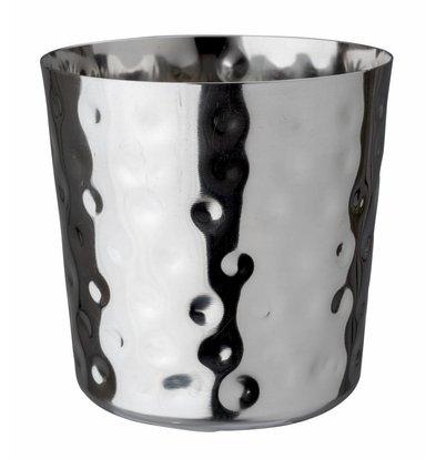 Bar Professional Vorspeise Tasse Edelstahl gehämmert | 9x9cm
