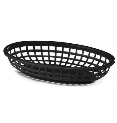 Bar Professional Ovaler Korb | Schwarzer Kunststoff