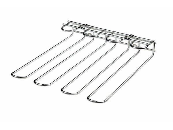 Bar Professional 3-teiliges Gläserschiene | Chrom | 300 x 300 mm