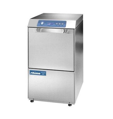 Rhima Geschirrspülmaschine + Ablaufpumpe 40x40cm Rhima Optima 400 Plus | 6 Wasch gramme 450x535x720mm