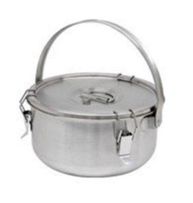 Thermosteel Thermosteel Suppenbehälter | 5 liter | Mit Henkel | Edelstahl AISI 304 Doppelwandig | Stapelbar | Ø30cm x (h)17cm