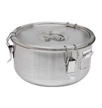 Thermosteel Thermosteel Suppenbehälter | 5 liter | Griffen Seitlich | Edelstahl AISI 304 Doppelwandig | Stapelbar | Ø30cm x (h)17cm