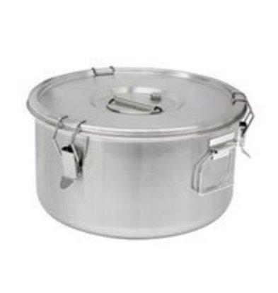Thermosteel Thermosteel Suppenbehälter | 10 liter | Griffen Seitlich |Edelstahl AISI 304 Doppelwandig | Ø30cm x (h)22.5cm