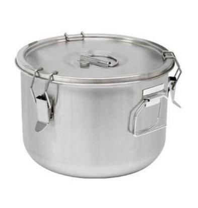 Thermosteel Thermosteel Suppenbehälter | 15 liter | Griffen Seitlich | Edestahl AISI 304 Doppelwandig | Stapelbar | Ø36cm x (h)21,5cm