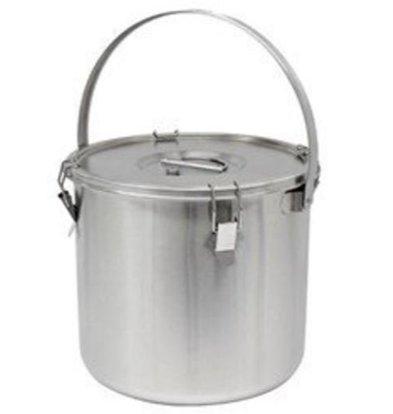 Thermosteel Thermosteel Suppenbehälter | 25 liter | Mit Henkel | Edelstahl AISI 304 Doppelwandig | Stapelbar | Ø36cm x (h)35cm