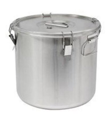 Thermosteel Thermosteel Suppenbehälter | 25 liter | Griffen Seitlich | Edelstahl AISI 304 Doppelwandig | Stapelbar | Ø36cm x (h)35cm