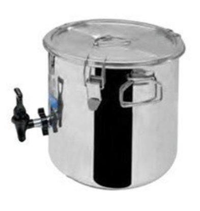 Thermosteel Thermosteel Suppenbehälter | 9 liter | mit Auslaufhahn | Edelstahl AISI 304 Doppelwandig | Stapelbar | Ø30cm x (h)34cm