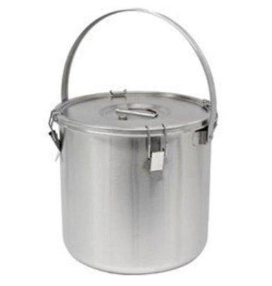Thermosteel Thermosteel Suppenbehälter | Mit Henkel | Edelstahl AISI 304 Doppelwandig | Stapelbar | Ø36cm x (h)40cm