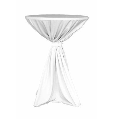 Unicover Cocktail-Tischhusse Jupiter | Weiß Verfügbar in 2 Größen