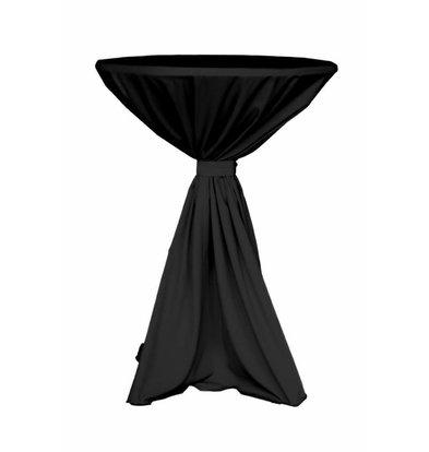 Unicover Cocktail-Tischhusse Jupiter | Schwarz Verfügbar in 2 Größen