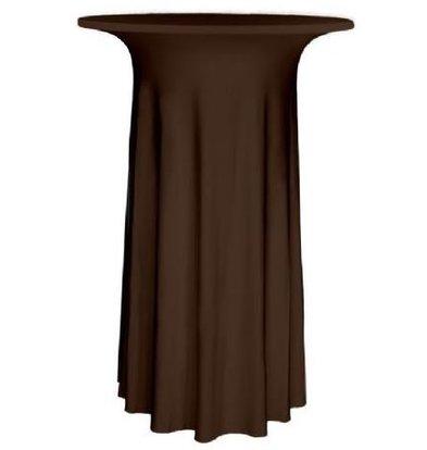 Unicover Cocktail-Tischhusse Stretch Deluxe | Schokolade Erhältlich in 3 Größen
