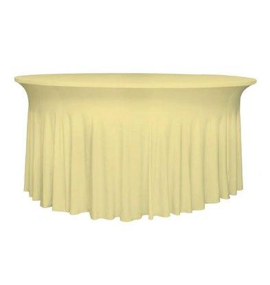 Unicover Tischhusse Stretch Deluxe | Sahne | Erhältlich in 3 Größen