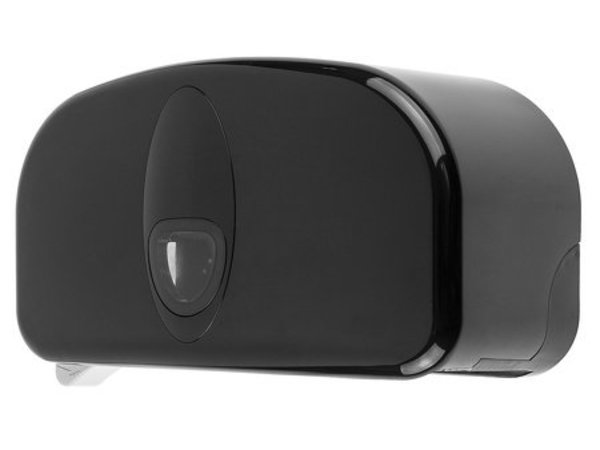 PlastiQline 2 Rollenhalter Kunststoff schwarz | Geeignet für 2x Dopole von Ø 145 mm x B 100 mm