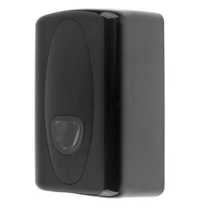 PlastiQline Toilettenpapier-Spender | Kunststoff schwarz | Geeignet für maximal 120 x 100 mm