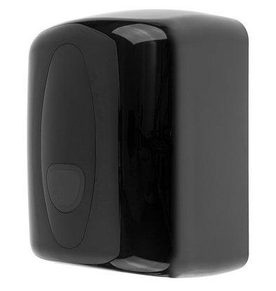 PlastiQline Reinigungsrollenspender Midi | Kunststoff schwarz | Max. Ø 220 mm x H 230 mm
