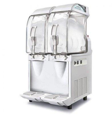 MEC Slusheis Maschine | 2x11 Liter Kapazität | 980W | 400x580x(H)870mm