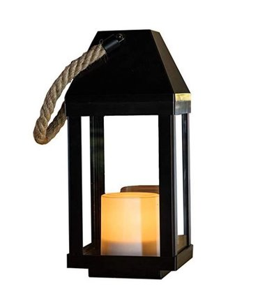 Lumisky Chandely Solar LED Laterne | Kandel-Effekt 135 x 135 x (H) 302 mm