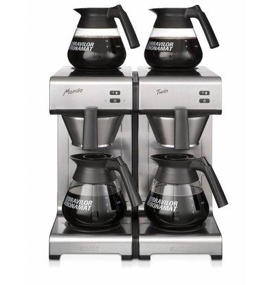 Bravilor Bonamat Kaffeemaschine Mondo Twin | Schnelle Filtermachine | 404x406x(h)446 mm