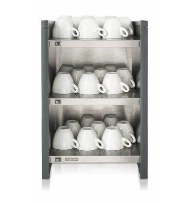 Bravilor Bonamat Tassenwärmer  WHK | 3 Ebenen | Für Tassen und Becher | 349x400x542 mm