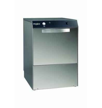 Whirlpool Pro Gläserspülmaschine | Standard Line SGD 44 S | 40x40cm  | 230 Volt | Klarspüldispenser + Abwasserpumpe  + Automatischer Wasserenthärter