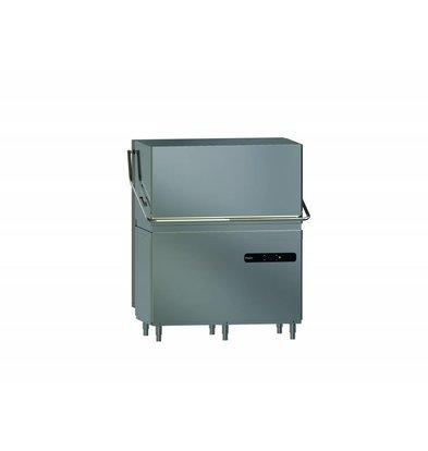 Whirlpool Pro Durchschub Spülmaschine Doppelt | High Line H2CL 534 SA | 50x50cm | Klarspülmaschine + Abwasserpumpe + Enthärter