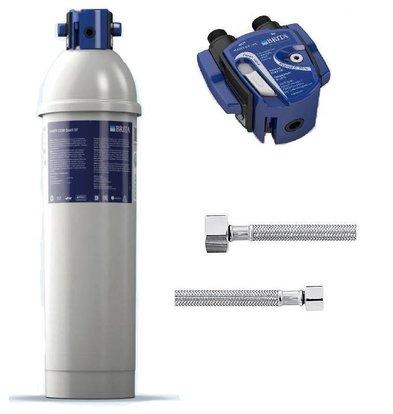 Brita Purity C500 Quell ST | Für Eiswürfelbereiter bis 40kg | Komplettsatz: Filterkartusche + Filterkopf + 2x Anschlußschlauch
