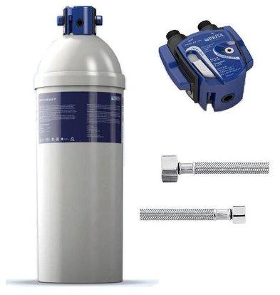 Brita Purity C1100 Quell ST | Eiswürfelbereiter > 40kg | Komplettsatz: Filterkartusche + Filterkopf + 2 x Anschlußschlauch