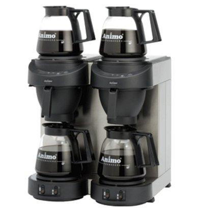 Animo Doppel Kaffeemaschine Animo Festwasseranschluss | 10562 | M202 | Inkl.  4 x Glaskanne 1,8 Liter | 3500W