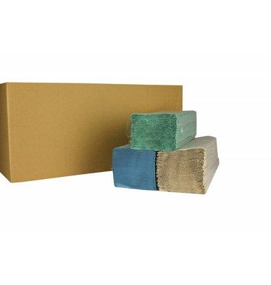 XXLselect Handtücher ZZ gefalten | Naturel | 1-Lagig, 23 x 25cm | 20 x 250 Tücher in Karton | (auch Paletten) Preis je 5000 Tücher