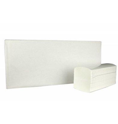XXLselect Handtücher Interfold | Cellullose | 3 laags, 42 x 22cm | 20 x 100 Tücher in Karton | (auch Paletten) Preis je 2000 Tücher