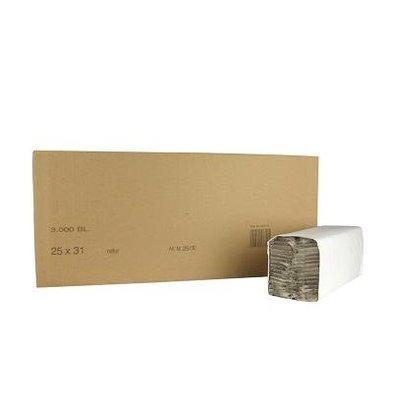 XXLselect Handtücher C-gefalten | Naturel | 1-Lagig, 31 x 25cm | 24 x 156 Tücher in Karton | (auch Paletten) Preis je 3744 Tücher