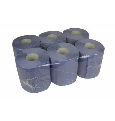 XXLselect Handtuchrolle Midi | Blau | 2-Lagig | 20cm x 140 meter pro Rolle | (auch Paletten) Preis je 6 Rollen
