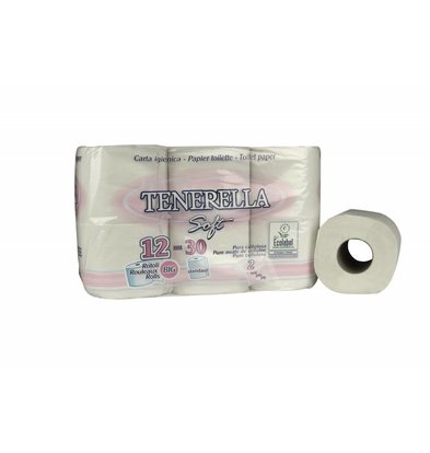 XXLselect Toilettenpapier Cellulose   2-Lagig, 400 Blatt   (auch Paletten) Preis je 48 Rollen