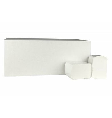 XXLselect Toilettenpapier Bulkpack   Cellulose   2-Lagig, 11 x 18cm   40 x 225 Tücher in Karton   (auch Paletten) Preis je 40 Dozen