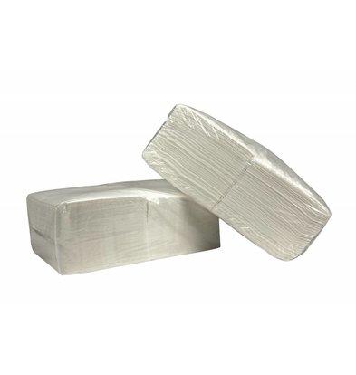 XXLselect Servietten Quadratisch Weiß | Cellulose | 1-Lagig | 33 x 33cm | 1/4 gefalten | 4 x 250 Servietten | (auch Paletten) Preis je 1000 Servietten