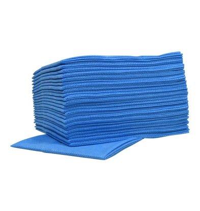 XXLselect Non-woven Wischtücher Food | Blau | 45 x 50cm | 10 x 25 Stück in Karton | (auch Paletten) Preis je 250 Tücher