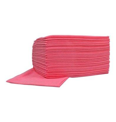 XXLselect Non-woven Wischtücher Food | Roze | 45 x 50cm | 10 x 25 Stück in Karton | (auch Paletten) Preis je 250 Tücher