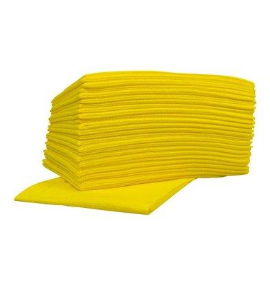 XXLselect Non-woven Wischtücher Food | Gelb | 45 x 50cm | 10 x 25 Stück in Karton | (auch Paletten) Preis je 250 Tücher