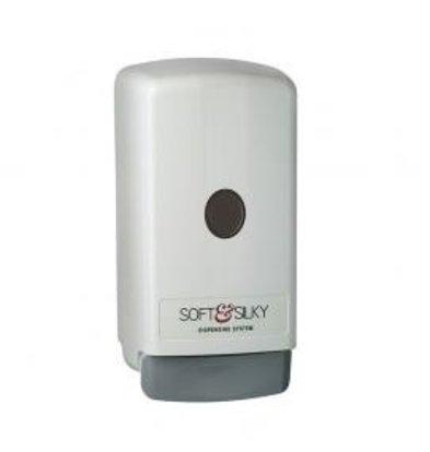 XXLselect Bag-in-box Dispenser 1800ml | Kunststoderf Weiß | Preis je 12 Stück