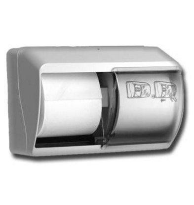 XXLselect Duorol Toilettenpapierspender | 140x260x(h)180mm | Kunststoderf Weiß