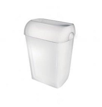 XXLselect Abfallbehälter 42 Liter | Kunststoderf Weiß | Stehend oder Wandbefestigung
