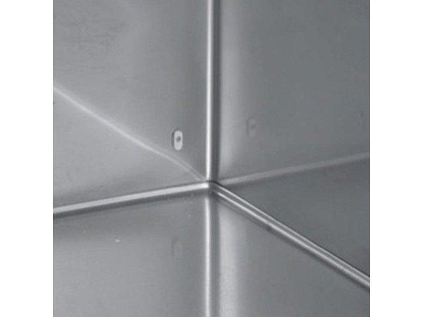 Inomak Doppel Edelstahl Tiefkühlschrank | 1432 Liter | 1215 W | 144x83x(h)212cm