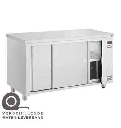 XXLselect Tellerwärmer-Warmhalteschrank Edelstahl | 1450W | 110x70x(h)86cm