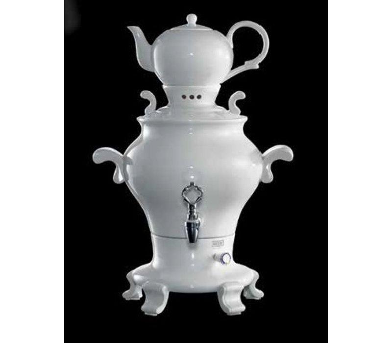 XXLselect BEEM Samovar Trendy Odette | Tee- Wasserkocher | Porzellan Weiß | 5 Liter